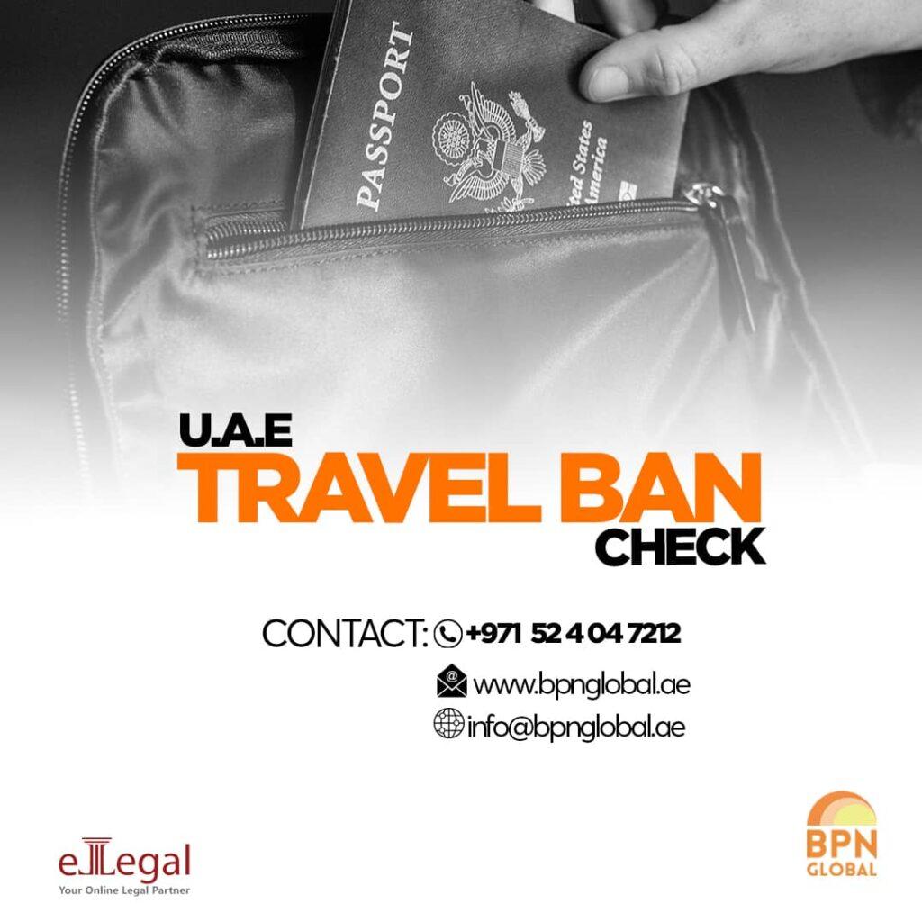 UAE travel ban check