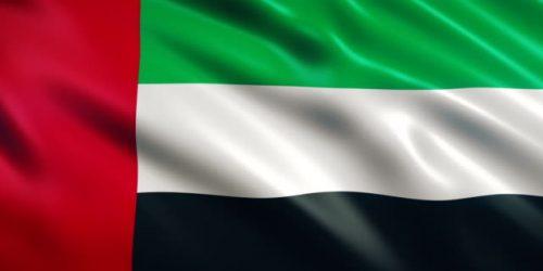 United Arab Emirates Flag Animation (Close-up)