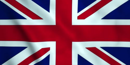 Motion graphic : Looping British flag motion